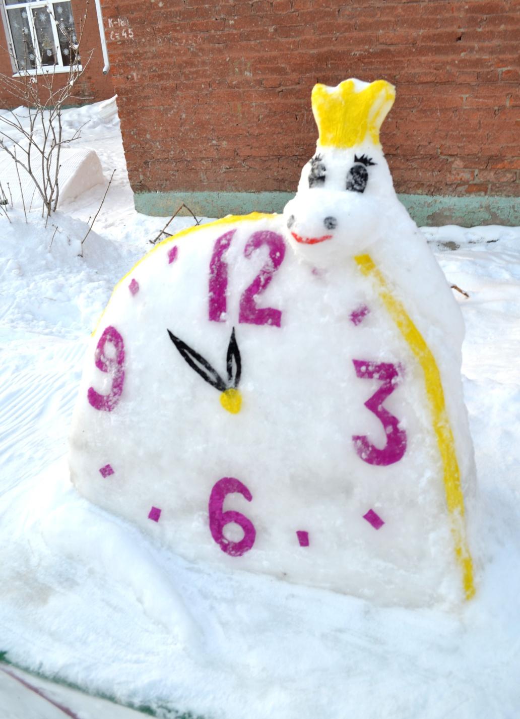 Сделать снежные фигуры свои руками